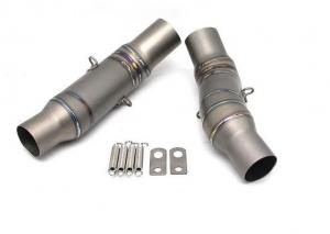 China Durable titanium alloy motorcycle middle exhaust pipe for Z1000 moto exhaust silencer on sale