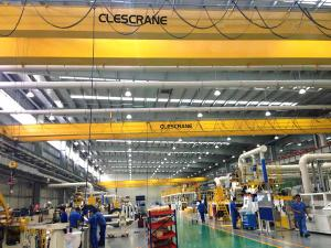 China kone crane 25 ton electric hoist double girder overhead crane 30 ton with hook on sale