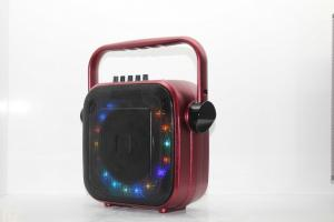 China Portable Audio Rechargeable PA Speaker With Bluetooth And Colorful Lights on sale