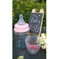 China 150ml With Teat Borosilicate Baby Glass Water Bottle For Milk And Water on sale