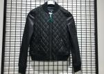 Winter Ladies Leather Bomber Jacket Pleather Black Women Pleather Coats Ribbed Collar and Hem