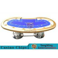 10 Players Casino Poker Table / Custom Poker Tables With Disc Shape Legs