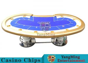 custom poker tables. Quality 10 Players Casino Poker Table / Custom Tables With Disc Shape Legs For Sale