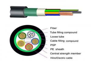 China Armored Composite Power / Outdoor Fiber Optic Cable GDTS for CCTV Cabling Service on sale