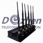 Adjustable 3G/4G Cell Phone Signal Jammer , Gps Jammer Blocker Multi - Purpose
