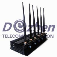 Adjustable 3G/4G Cell Phone Signal Jammer , Gps Jammer Blocker Multi - Purpose