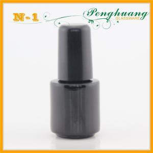 China 3ml Mini Black Empty Nail Polish Containers , Pink Small Nail Polish Bottle 5ml on sale