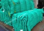 Green Knotted HDPE Fishing Net Monofilament / Multifilament Decorative Fish Netting