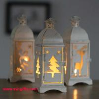 White Metal Lantern Christmas Decoration Designs Hurricane Lamp Nordic Candle Holder