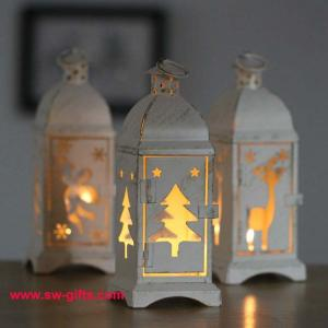 quality white metal lantern christmas decoration designs hurricane lamp nordic candle for sale