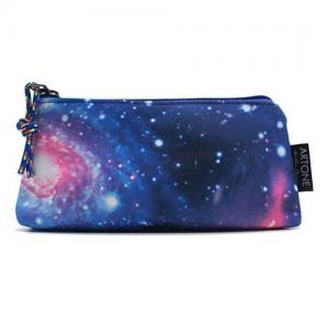 China Universe Galaxy 4C Print Personalized Pencil Case / Pen Bag Large Capacity on sale