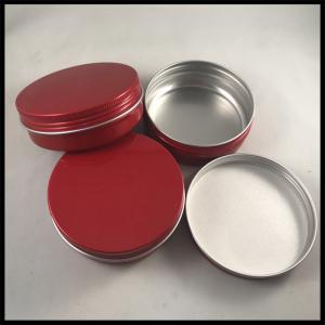 China Round Shape Cosmetic Cream Jar Empty Containers Aluminum Makeup Case Cotton Type on sale