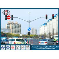 S355J2G3 Red Green Automated Traffic Light Pole ,  Traffic Sign Pole