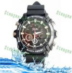 China Newest 1080P waterproof spy camera watch DVR W1000 4GB/8GB/16GB wholesale