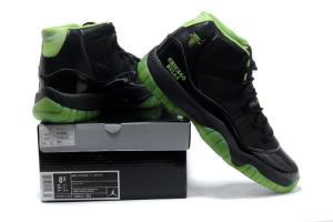 promo code 915d4 315bd ... Quality Retro Jordan 11 Black and Neon Green - Men Sneakers 675 for  sale ...