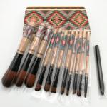 Body Painting Tool Full Makeup Brush Kit Wood Bamboo Handle Portable Costomized Color