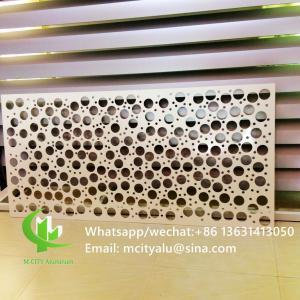 Round Shape Perforated Aluminum Sheet Metal Facade