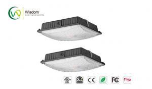 China 65W outdoor Slim LED Canopy Light parking garage light photocell 8000 lumens 6000K UL DLC AC 120-277 V // WSD-CP65W27 on sale