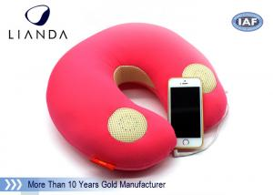 China Natural Music Sound Vibrating Massage Neck pillow with speaker , Memory Foam materials on sale