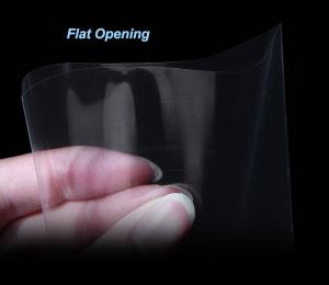 China Clear Poly Plastic Flat Bags 10 - 100MIC Thickness For Food Packaging on sale