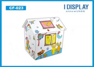 China Cardboard Princess Castle Playhouse  /  Corrugated Cardboard Playhouse For Children on sale