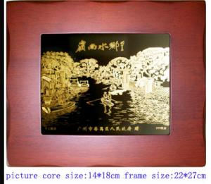 China Small Bronze Sculpture Painting on sale