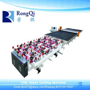 China CNC Automatic Special Shapes Glass Cutting Line with Glass Breaking Table on sale