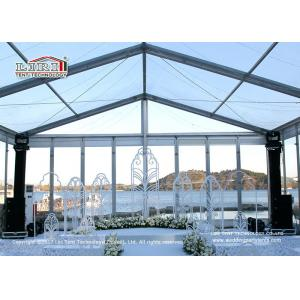China 200 Guests Aluminum Frame Luxury Wedding Tents With Glass Sidewalls on sale
