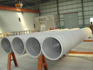 China 15 mm Large Diameter Welded Duplex Stainless Steel Pipe / Annealed SS Pipes Schedule 80 on sale