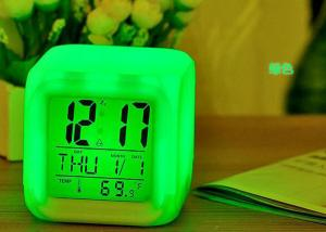 China Modern Digital Led Cube Alarm Clock Night Glowing , Light Alarm Clock Decoration on sale