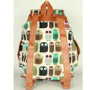 China Women's School Swallow Backpack Fox Bag Girl's Owl Backpack Canvas Shoulder Backpack on sale