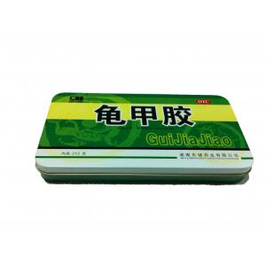 China Tin Factory Tinplate Square Tin Containers For Health Care Products Packaging on sale