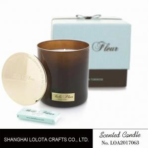 China Custom Logo Colorful Scented Jar Candle With Sage And Citrus / Frangipani Fragrance on sale