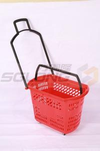 China 45L Durable Supermarket Shopping Baskets HDPP Marerial 600 X 390 X 400 mm on sale