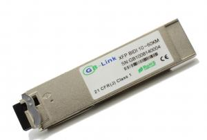Quality Genuine 10Gb/s XFP 60KM BIDI Optical Transceiver with 1330nm DFB laser for sale
