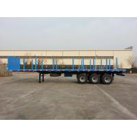 40 Foot Flatbed Semi Trailer / Platform Semi Trailer For Cargos And Containers