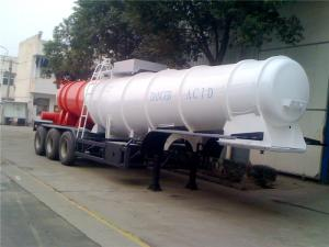 China 3 Axle V Shape Heavy Duty Semi Trailers  19M3 20M3 21M3 For Sulfuric Acid on sale