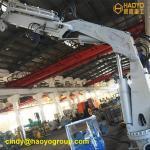 Foldable Boom Marine Floating Dock Cranes and Hoists Marine Ship Deck Crane