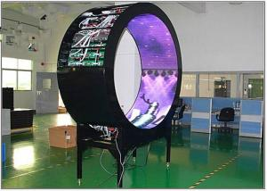 China Curved Flexible LED Video Display P6 Mm Full Color For Media Facade Fixed Installation on sale