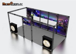 China Attractive Aluminum Trade Show Booth Tension Fabric Light Box For Expo on sale