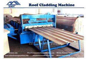 China G550MPA PPGI Roof Panel Roll Forming Machine With Universal Joint 0-30m/min on sale