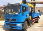 DFAC 4x2 8 Ton Truck Crane , Telescopic Boom Crane CS2018XX For Lorry