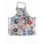 Florezca los productos con tirante y espalda descubierta impresos 250gsm de los hogares del delantal de la cocina del algodón de la correa