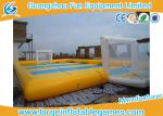 Waterproof 0.9mm PVC Inflatable Sports Field , Inflatable Football Pitch