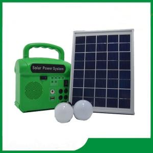China Solar lighting system kits solar 10w / 6v solar panel system for home, camping on sale
