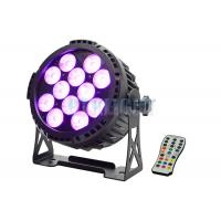 China IP65 Battery Powered LED Lights With Remote 12x12w RGBWA 6 In 1 For Events on sale