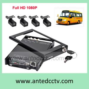 China HD 1080P Mobile Car DVR CCTV video recording surveillance system 4 camera kit on sale