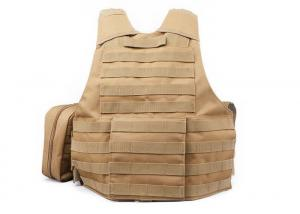 China Security Khaki Military Tactical Vest Left Handed For Law Enforcement / Police / Army on sale