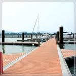 Marine Grade Aluminum Boat Pontoon Floating Dock Variable Load Customized Height