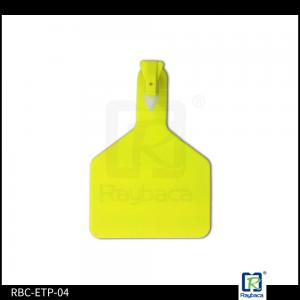50 PCS One-Piece Ear Tags For Cattle Horse Sheep Livestock Tool Yellow Plastic